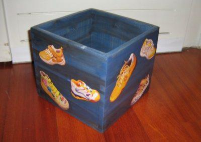 Decoupage su scatola legno