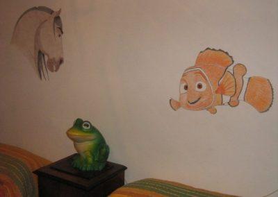 Nemo e Spirit a matita su muro