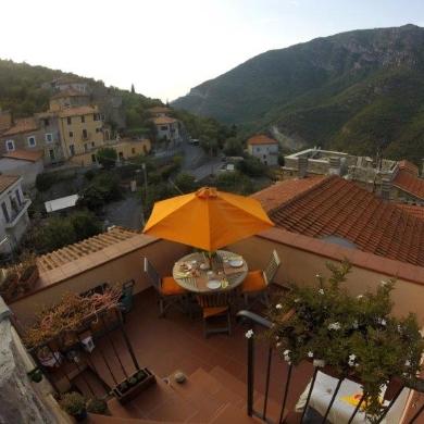 Il terrazzo panoramico delle colazioni