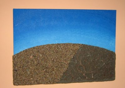 Quadro materico (terra e sabbia)
