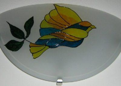 Decorazione con piombo liquido su lampada